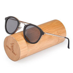 WoodWatchBox.com WOOD SUNGLASSES grey lens sunglasses Bobo Bird G28 Unisex Polarized Retro Vintage Wood Sunglasses