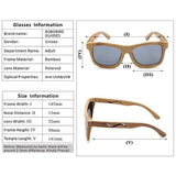 WoodWatchBox.com WOOD SUNGLASSES Grey / United States Bobo Bird BG3 Handmade 100% Natural Bamboo Wooden Sunglasses Unisex