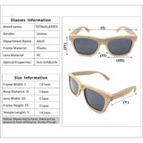 WoodWatchBox.com WOOD SUNGLASSES Grey / United States Bobo Bird G07 Fashion Polarized Square Wood Bamboo Sunglasses for Men