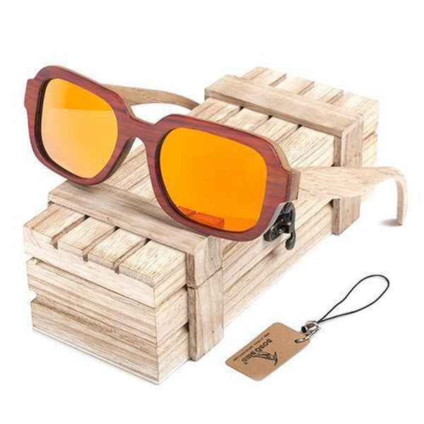 acd5cfca46e WoodWatchBox.com WOOD SUNGLASSES orange Bobo Bird G03 Uv400 Unisex All  Wooden Frame Polarized SunGlasses