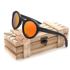 WoodWatchBox.com WOOD SUNGLASSES Yellow Lens / China Bobo Bird BG012 Polarized Natural Handmade Bamboo Sunglasses for Women