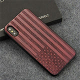 YFWOOD Wooden iPhone Case For iPhone X XR XS Max Protective Back Cover
