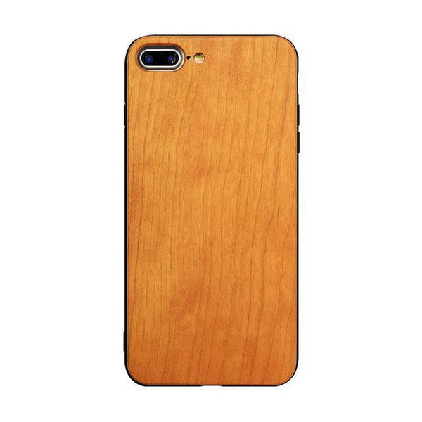 WoodWatchBox.com WOODEN iPHONE CASE as picture 3 / for iphone 7 Muyusu Ultra Slim Bamboo Wood TPU Back Cover for iPhone 7 Wooden Case