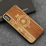 WoodWatchBox.com WOODEN iPHONE CASE Cherrywood Camera / for iPhone X YFWOOD Wooden iPhone Case For iPhone X XR XS Max Protective Back Cover