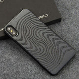 WoodWatchBox.com WOODEN iPHONE CASE Ebony Clouds / for iPhone X YFWOOD Wooden iPhone Case For iPhone X XR XS Max Protective Back Cover