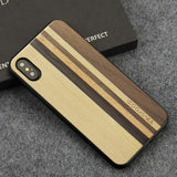 WoodWatchBox.com WOODEN iPHONE CASE Maple Walnut 1 / for iPhone X YFWOOD Real Wood Case for iPhone X 10 Best Wooden iPhone Covers