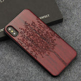 WoodWatchBox.com WOODEN iPHONE CASE Rosewood Banyan / for iPhone X YFWOOD Wooden iPhone Case For iPhone X XR XS Max Protective Back Cover
