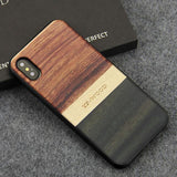 WoodWatchBox.com WOODEN iPHONE CASE Rosewood Ebony 3 / for iPhone X YFWOOD Real Wood Case for iPhone X 10 Best Wooden iPhone Covers