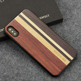 WoodWatchBox.com WOODEN iPHONE CASE Rosewood Ebony 4 / for iPhone X YFWOOD Real Wood Case for iPhone X 10 Best Wooden iPhone Covers