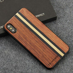 WoodWatchBox.com WOODEN iPHONE CASE Rosewood Maple 2 / for iPhone XR YFWOOD Real Wood Case for iPhone XR Best Wooden iPhone Covers