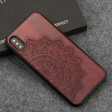 WoodWatchBox.com WOODEN iPHONE CASE Rosewood Sunflower / for iPhone X YFWOOD Wooden iPhone Case For iPhone X XR XS Max Protective Back Cover