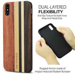 WoodWatchBox.com WOODEN iPHONE CASE YFWOOD Real Wood Case for iPhone XR Best Wooden iPhone Covers