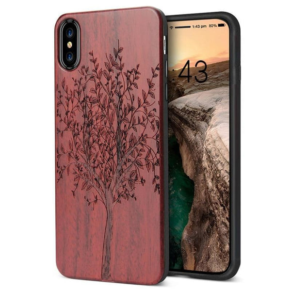 WoodWatchBox.com WOODEN iPHONE CASE YFWOOD Wooden iPhone Case For iPhone X XR XS Max Protective Back Cover
