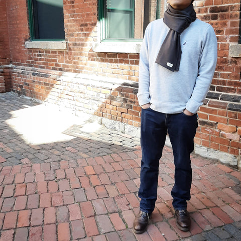Dark Ash - Classic Anytime Cold Weather Scarf