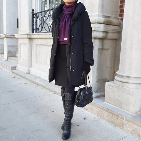 Anytime Cold Weather Scarf in Plum