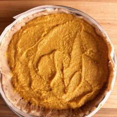 Pumpkin Pie ready to for the oven!