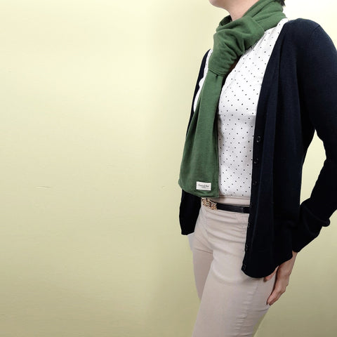 Anytime Cold Weather Scarf in Olive Green