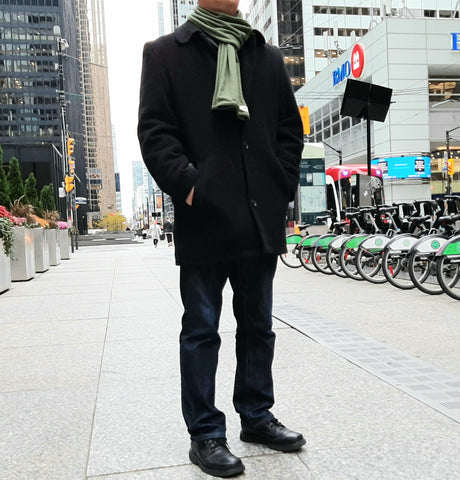 Classic Anytime Cold Weather Scarf in Olive Green