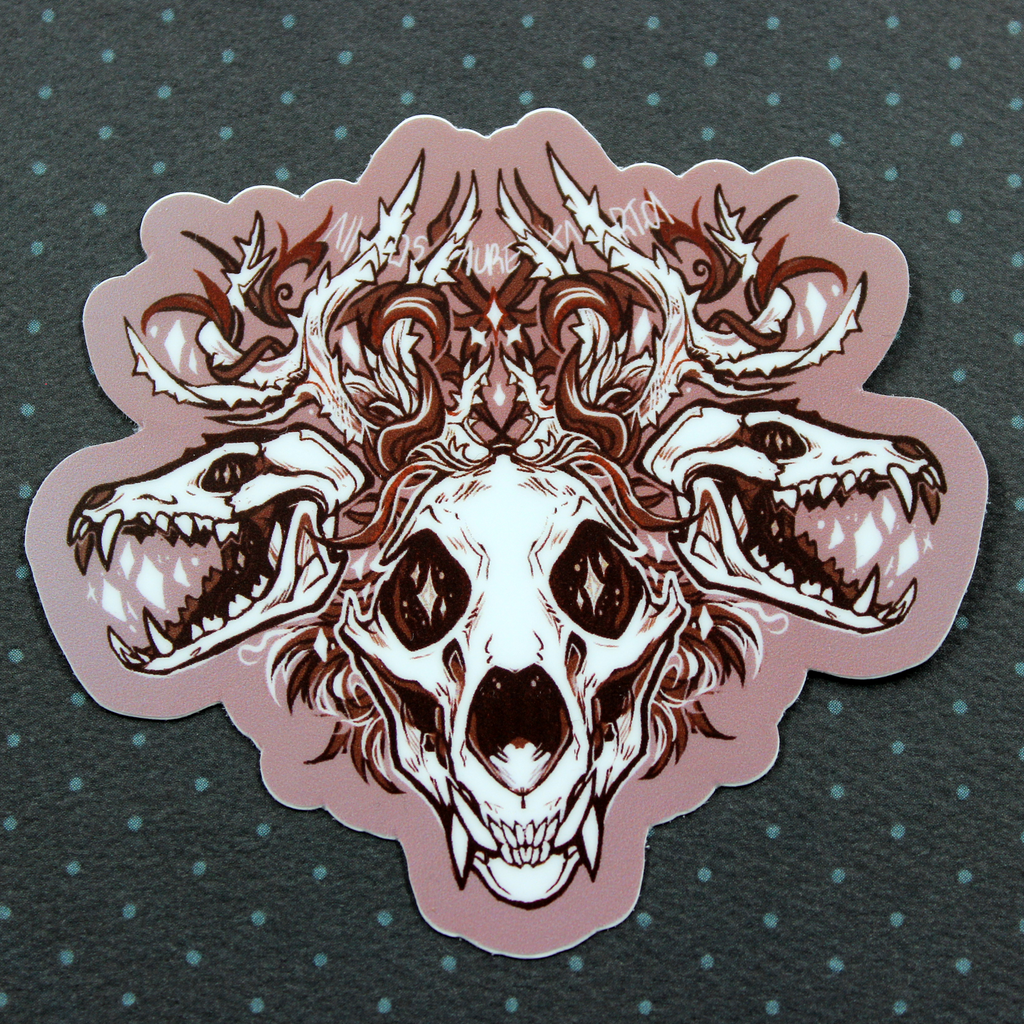 Rustic Bones Sticker