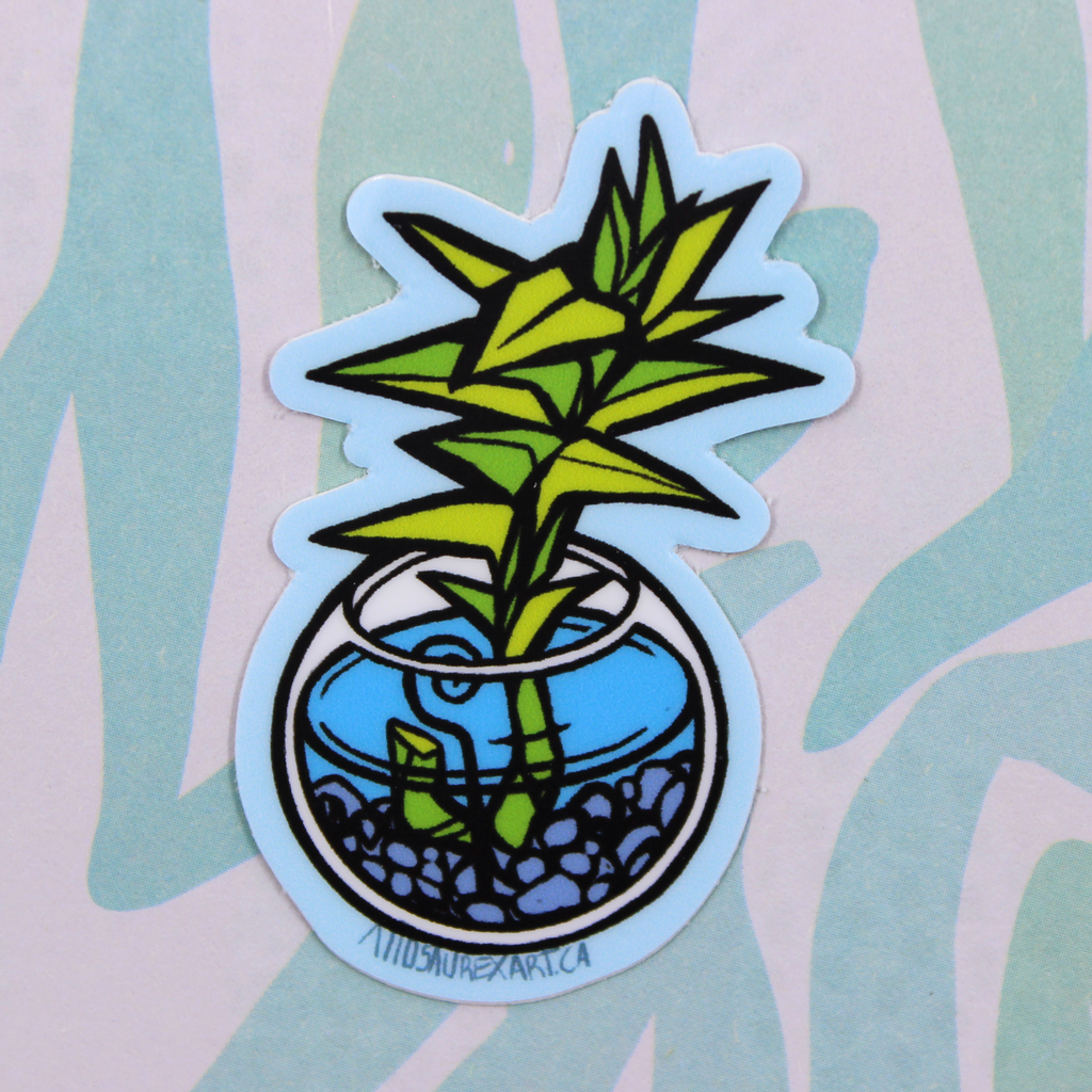 Lucky Bamboo Sticker