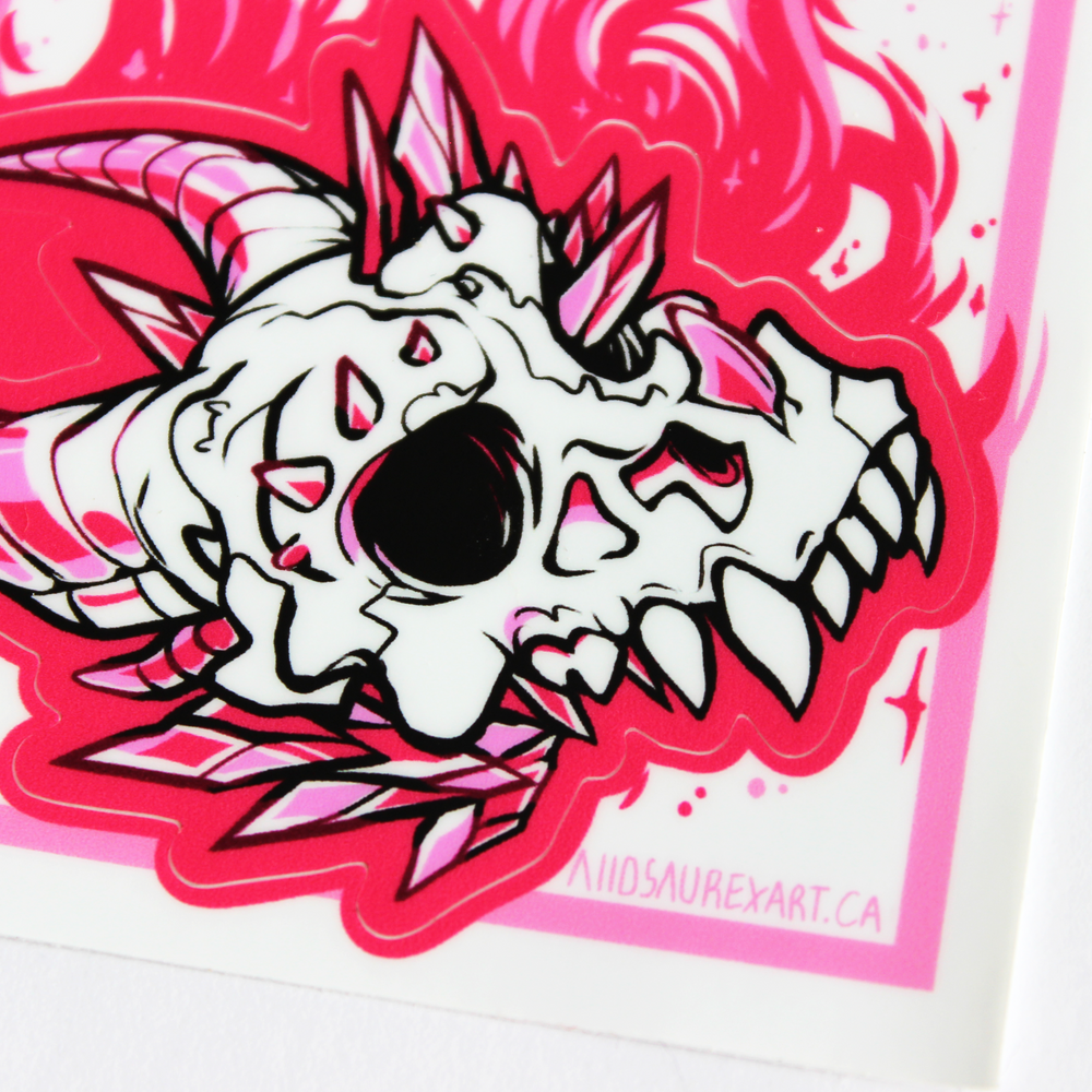 Crystal Skull Kiss-Cut Sticker