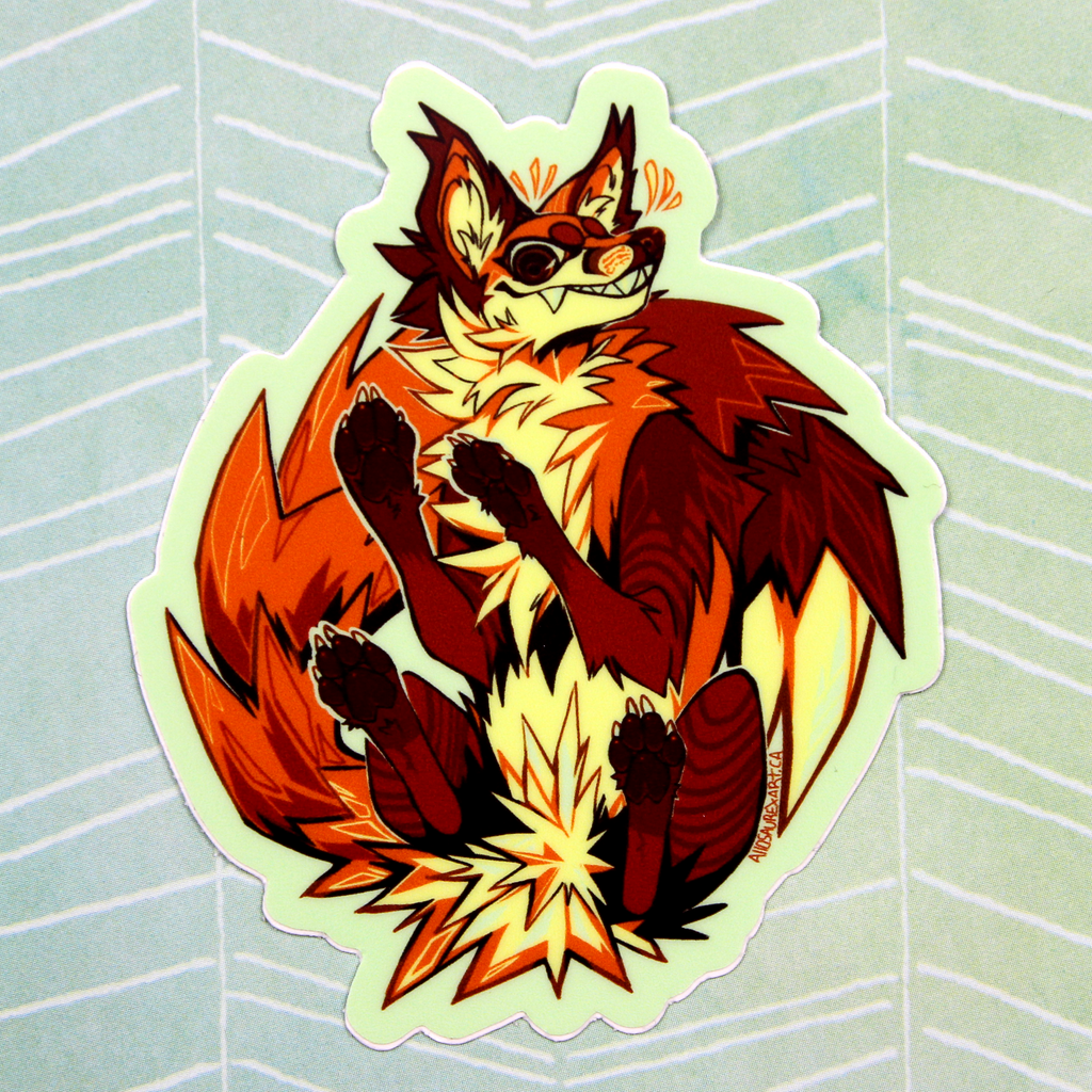 Fox Crest Sticker