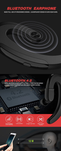 Bone Conduction Earphones With Earbud Info
