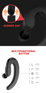 Ear Hook Bone Conduction Earphones with Attachable Earbud - Hi Fidel Audio
