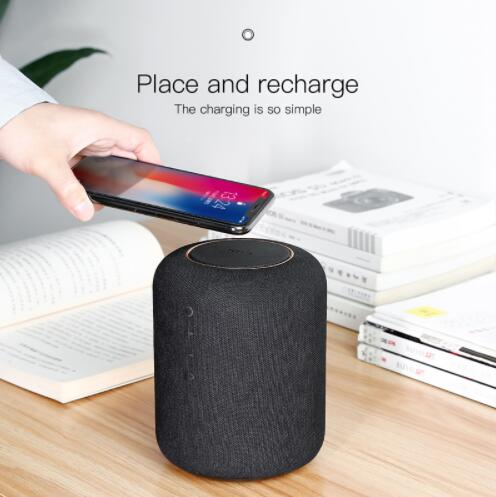 Bluetooth Speaker with Wireless QI Charger