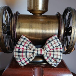 Maxton Tartan Tweed Dog Bow Tie - Luxury Highland Wool Pet Couture