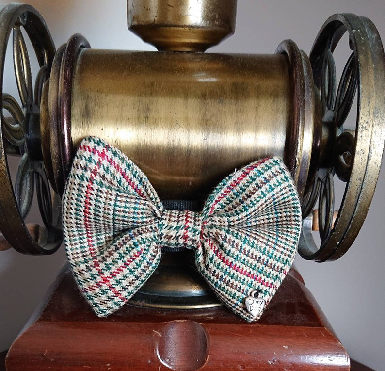 Minto Tweed Tartan Dog Bow Tie - Luxury Highland Wool Pet Couture