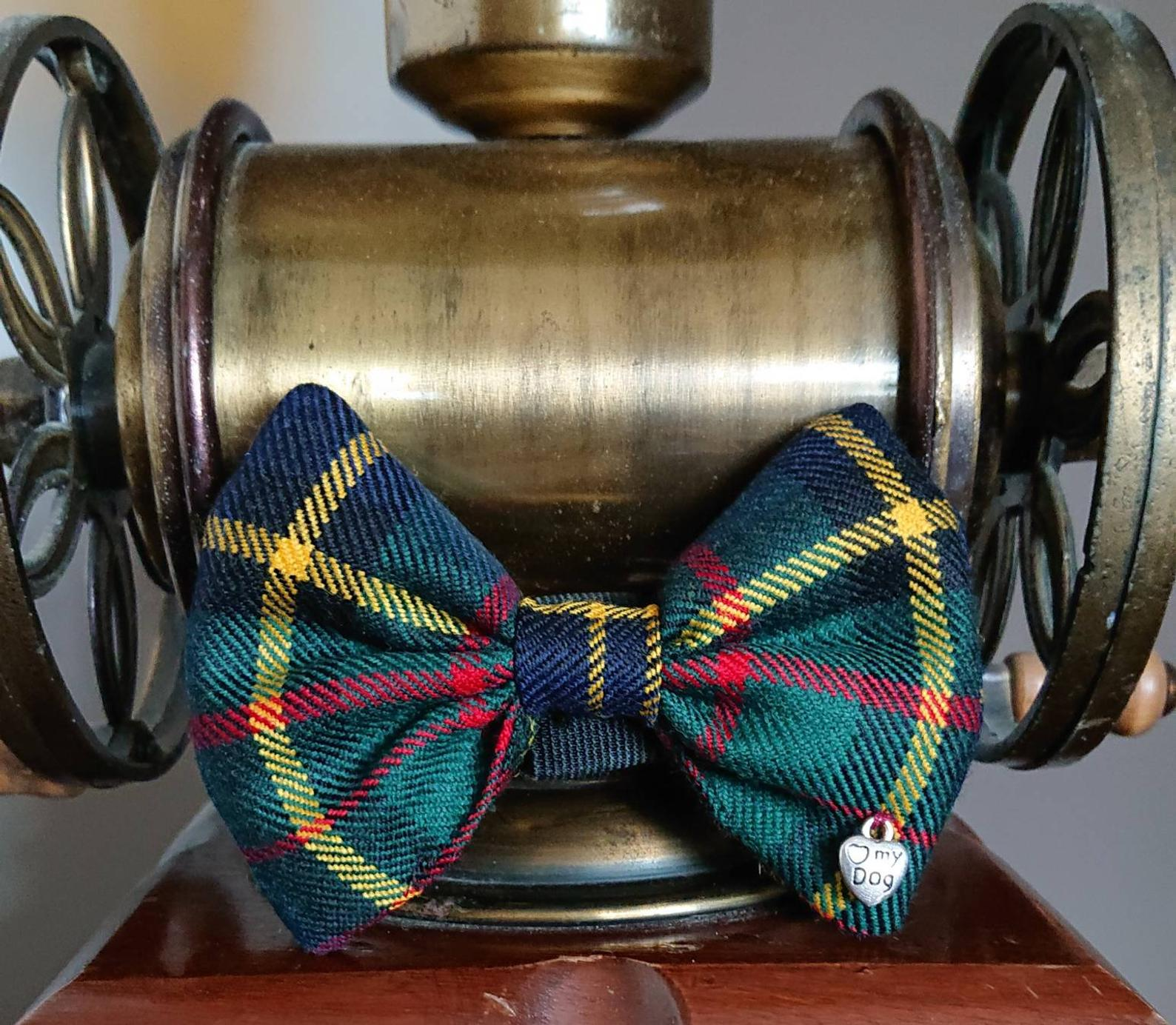 MacMillan Hunting Modern Tartan Dog Bow Tie - Luxury Highland Wool Pet Couture