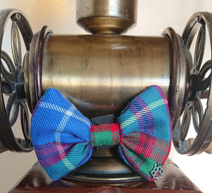 Edinburgh Tartan Dog Bow Tie - Luxury Highland Wool Pet Couture