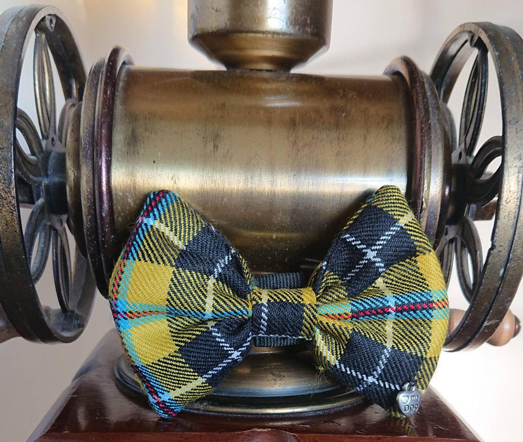Cornish National Dog Bow Tie - Luxury Highland Wool Pet Couture