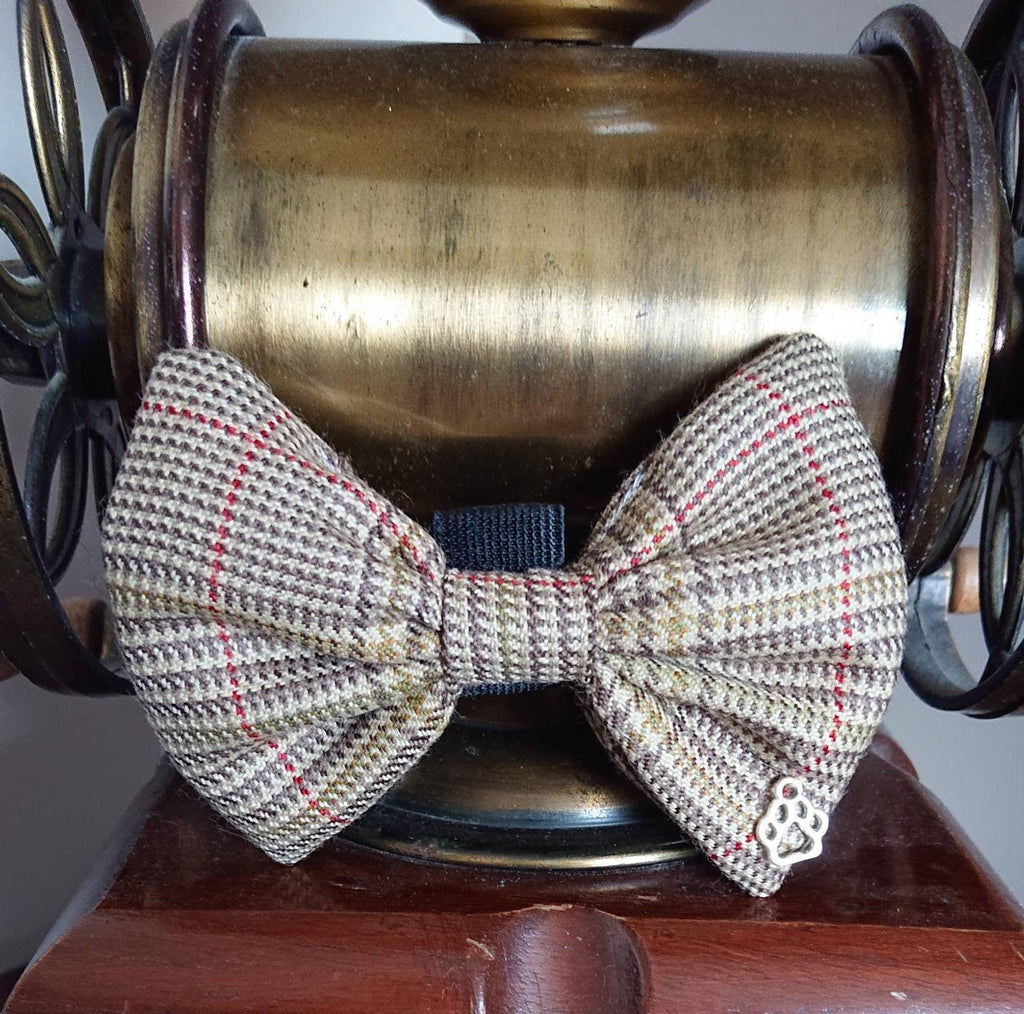 Crail Tartan Dog Bow Tie - Luxury Highland Wool Pet Couture