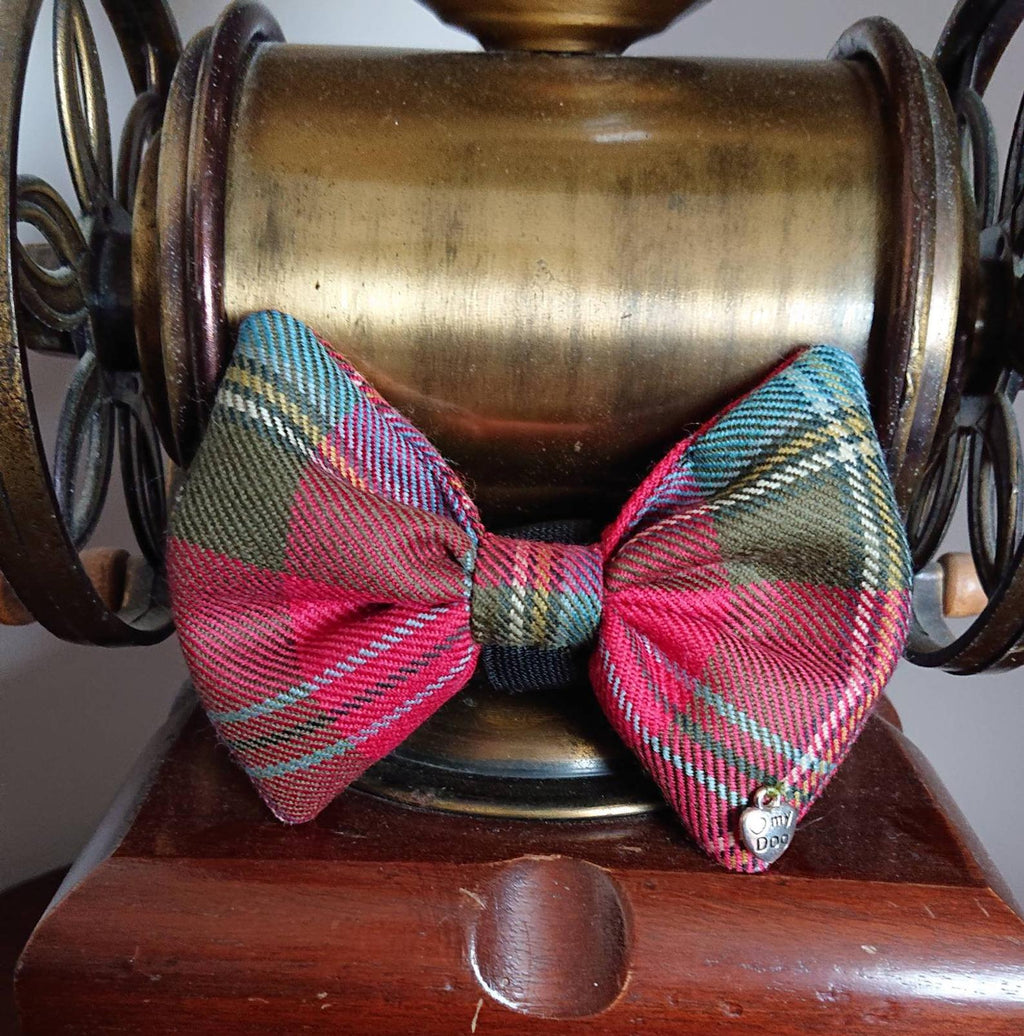 Maclean Of Duart Tartan Dog Bow Tie - Luxury Highland Wool Pet Couture