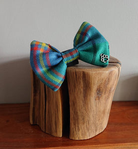 Farquharson Tartan Dog Bow Tie - Luxury Highland Wool Pet Couture