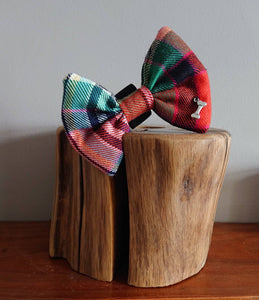 Dundee Tartan Dog Bow Tie - Luxury Highland Wool Pet Couture