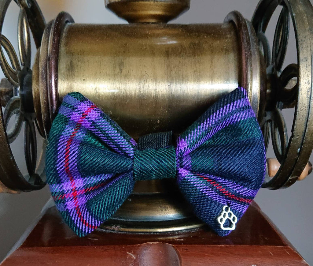 Cooper Modern Tartan Dog Bow Tie - Luxury Highland Wool Pet Couture