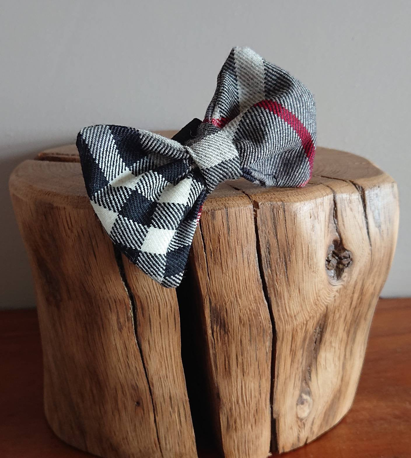 Thompson Grey Tartan XS Small Dog / Cat Bow Tie - Luxury Highland Pet Couture