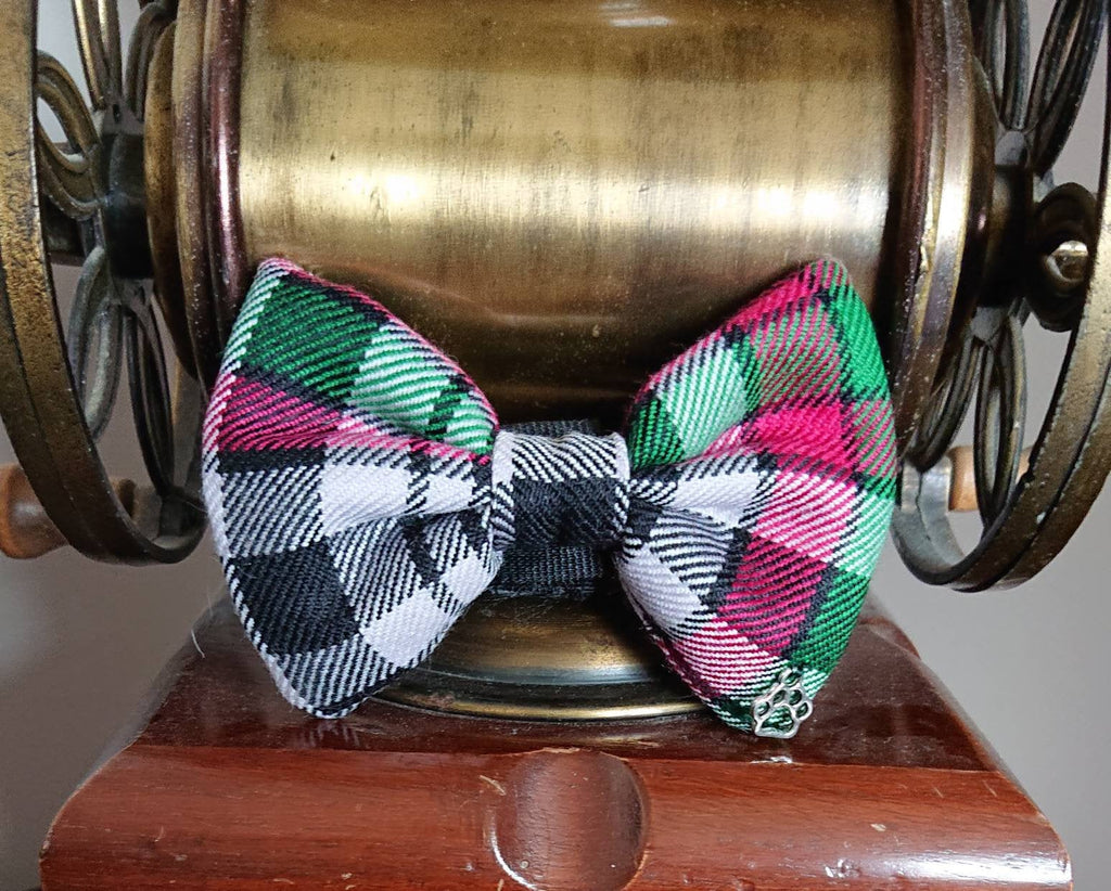 Borthwick Tartan Dog Bow Tie - Luxury Highland Wool Pet Couture