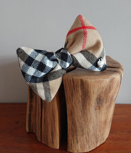 Thompson Camel Tartan Dog Bow Tie - Luxury Highland Wool Pet Couture