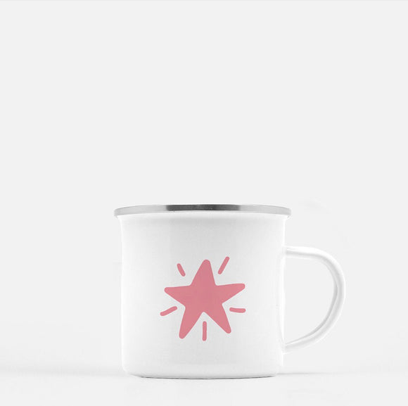 The Pink Star. 10 oz Kid Mug.