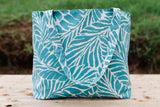 Tropical Leaf Tote - Beachy Blue