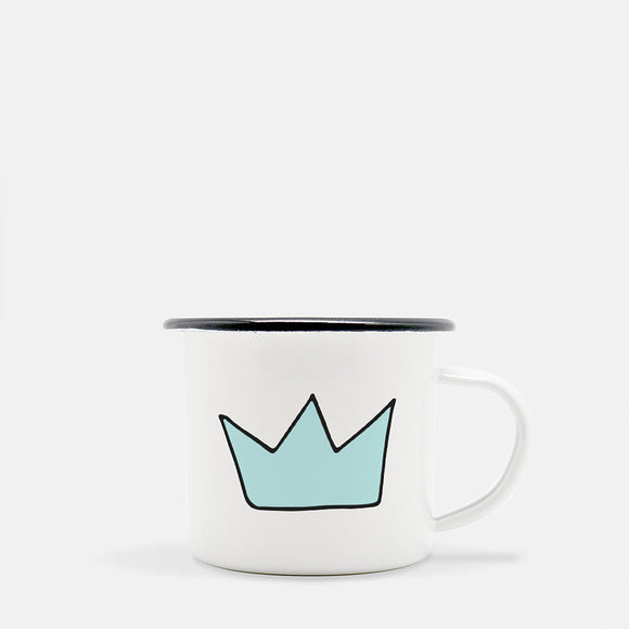 The Blue Crown. 10 oz Kid Mug