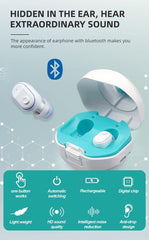 Rechargeable Digital Wireless 4 Channels Hearing Aids with Bluetooth Mini ITC Sound Amplifier-OXYGENSOLVE