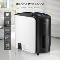 1-7L/min Adjustable Oxygen Concentrator Y-101W For Home Use-OXYGENSOLVE