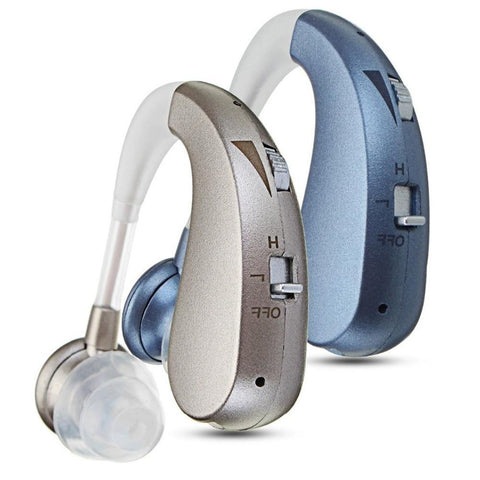 Digital Rechargeable Hearing Aid Severe Loss Invisible BTE Ear Aids High-Power WD-01-OXYGENSOLVE