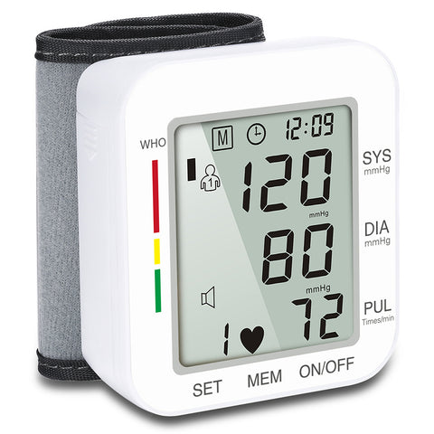 Digital Wrist Blood Pressure Monitor Pulse Rate Heart Beat Rate Meter-OXYGENSOLVE
