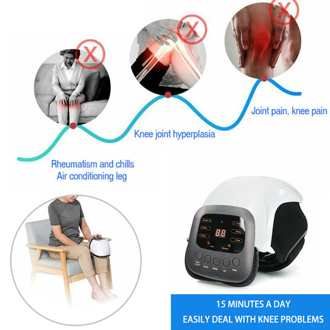 Smart Knee Massager Pain Relief Infrared Rheumatic Instrument Infrared Heat-OXYGENSOLVE